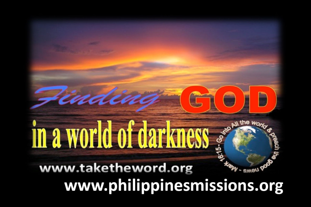 photo of sunset over sea - finding God in a world of darkness - philippinesmissions.org